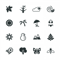 Four Seasons Silhouette Icons