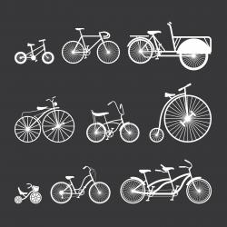 Bicycle White Series | EPS10