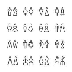 Men & Women Icon - Line Series