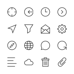 Basic Icon Set 2 - Line Series