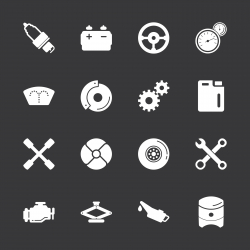 Car Tools Icons - White Series | EPS10
