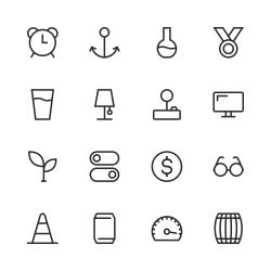 Basic Icon Set 9 - Line Series