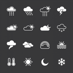 Weather Icons - White Series | EPS10