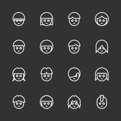 Avatar Icon - White Line Series