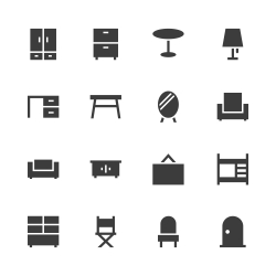 Furniture Icon - Gray Series