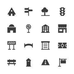 City Element Icon - Gray Series