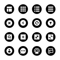 Responsive Web Icon - Black Circle Series