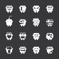 Emoticons Set 2 - White Series | EPS10