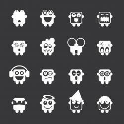 Emoticons Set 3 - White Series | EPS10