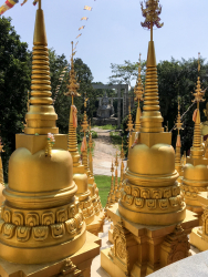 Golden Stupa At Wat Pasawangboon, Thailand