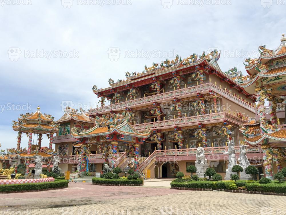 Chinese Shrine in Chonburi, Thailand