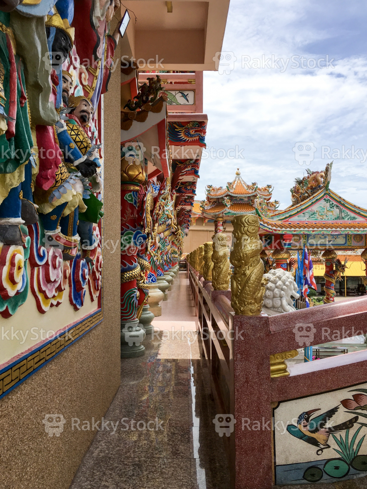 Beautiful Chinese shrine in Chonburi, Thailand