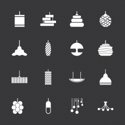 Lamp Design Icons - White Series | EPS10