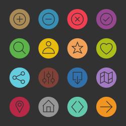 Basic Icon Set 1 - Color Circle Series