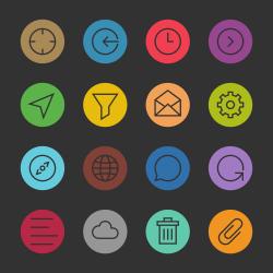 Basic Icon Set 2 - Color Circle Series