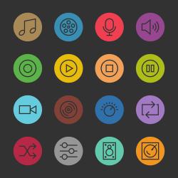Basic Icon Set 5 - Color Circle Series