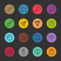 Basic Icon Set 8 - Color Circle Series