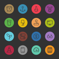 Basic Icon Set 9 - Color Circle Series