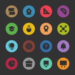Education & School Icon Set 1 - Color Circle Series