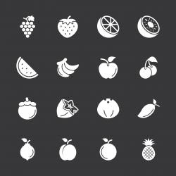 Fruit Icons - White Series | EPS10