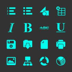 Document Editor Tool Icons