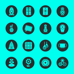 Loudspeaker Design Icons - Black Circle Series