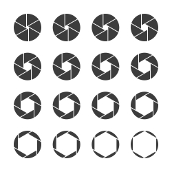 Shutter Icons - Gray Series