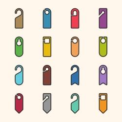 Door Hanger Sign Icon - Outline Series