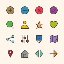 Basic Icon Set 1 - Outline Series