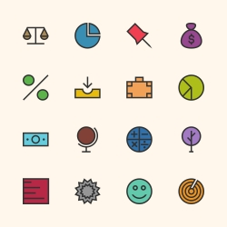 Basic Icon Set 6 - Outline Series