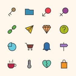 Basic Icon Set 8 - Outline Series