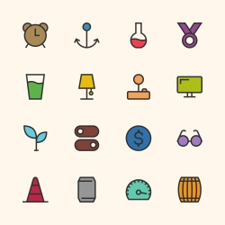 Basic Icon Set 9 - Outline Series