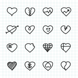 Heart Icon - Hand Drawn Series