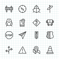 Navigation & Travel Icon - Hand Drawn Series