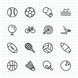 Sport Icon - Hand Drawn Series