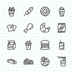 Fast Food Icon - Hand Drawn Series