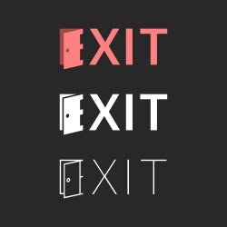 Exit - Typography Series