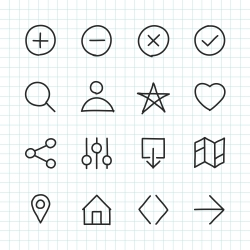 Basic Icon Set 1 - Hand Drawn Series