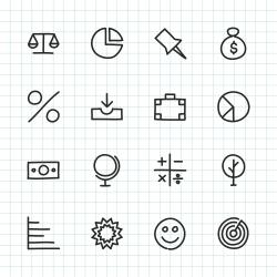 Basic Icon Set 6 - Hand Drawn Series
