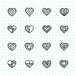 Heart Icon Set 2 - Hand Drawn Series