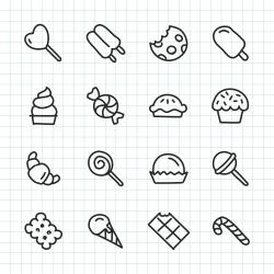 Dessert Icon - Hand Drawn Series