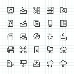 Data Storage Icon - Hand Drawn Series