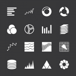 Chart and Graph Icons - White Series | EPS10