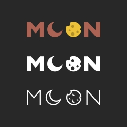 Moon - Typography Series