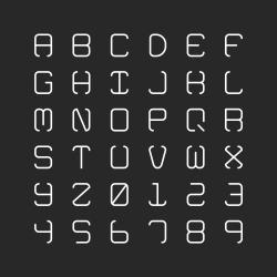 Light Alphabet - Typography Series