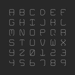 Thin Alphabet - Typography Series