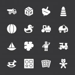 Toys Icons - White Series | EPS10