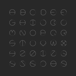 Thin Circle Font - Typography Series