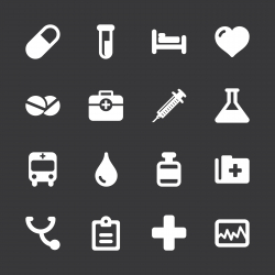 Medical Sign Icons - White Series | EPS10