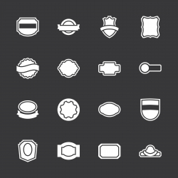 Label Icons Set 2 - White Series | EPS10